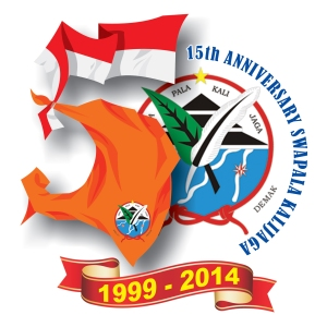Logo 15 tahun Swapala Kalijaga